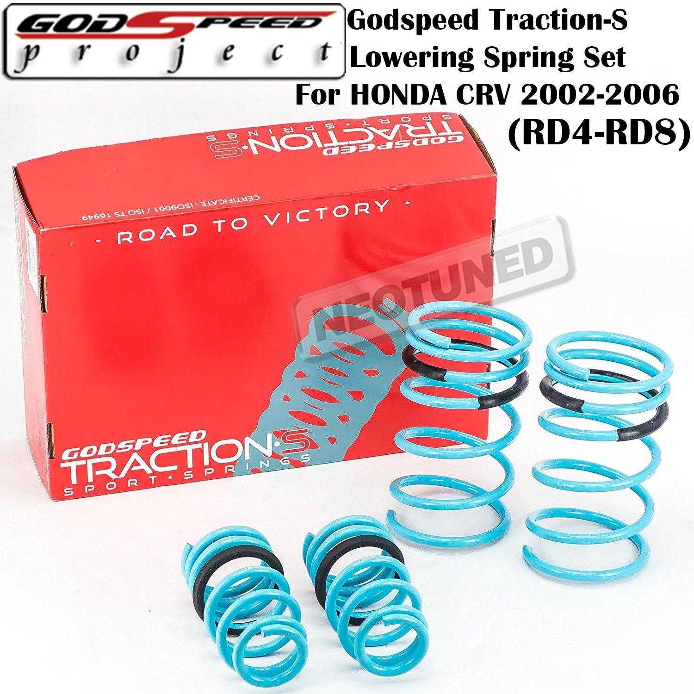 LS-TS-HA-0011 Traction-S Lowering Spring Set For Honda CRV 2002-2006 RD4-RD8 gsp set kit Godspeed
