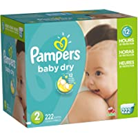 Pampers Baby Dry Diapers Pack Plus (222 Count)