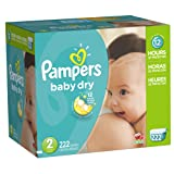 Amazon Price History for:Pampers Baby Dry Diapers Size 2, 222 Count