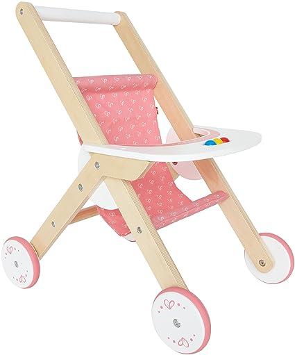Hape Babydoll Stroller Toddler Wooden Doll Play Furniture
