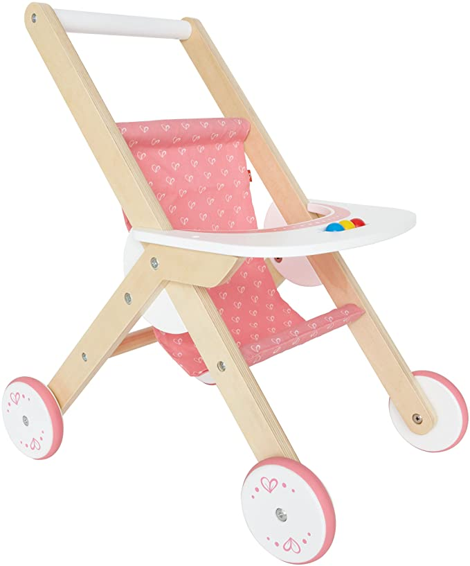 Amazon.com: Hape Babydoll - Cochecito de madera para muñecas ...