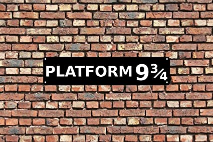 photo regarding Platform 9 3 4 Sign Printable identified as PosterGully System 9 3 4 Harry Potter Wall Artwork Poster