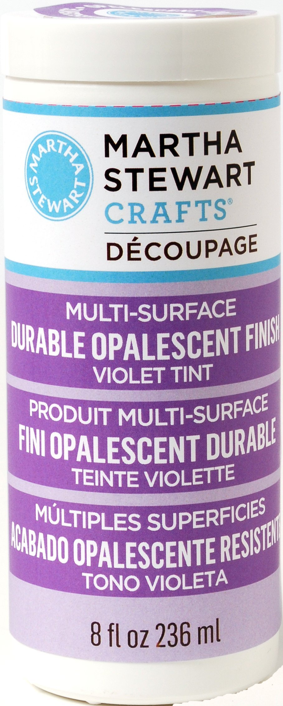 Martha Stewart Crafts Decoupage Formula (8-Ounce), 33286 Opalescent Violet Finish