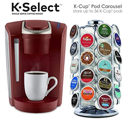 Amazoncom Keurig K Select Coffee Maker Red And K Cup Pod Carousel