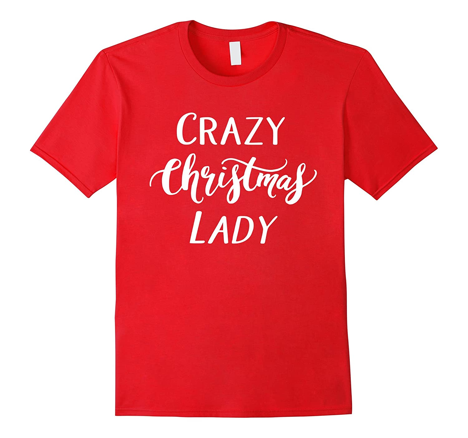 Crazy Christmas Lady T Shirt Funny Party Shopping-ANZ