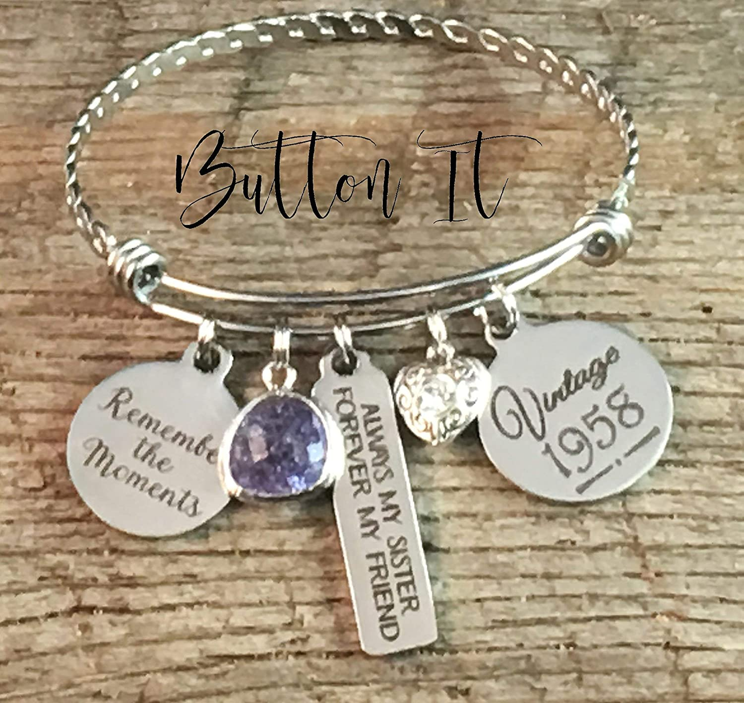 Birthday Gifts For HER Sister Best FRIEND Gift 40th Bracelet Bangle 50th Friends Are Family We Choose