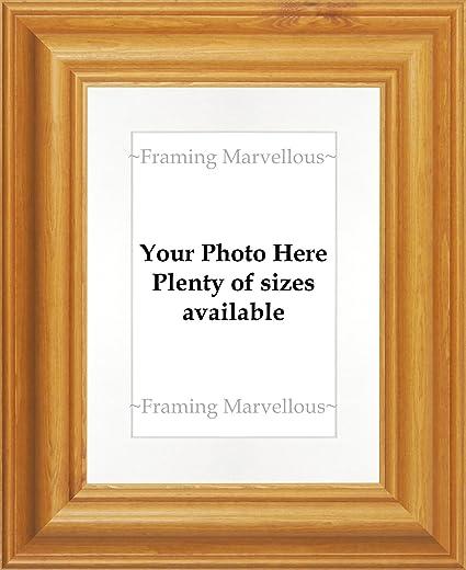 Amazon.com - Framing Marvellous Honey Pine Wood Photo Picture Frame ...