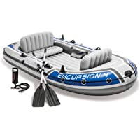 Intex Excursion 4 Person Inflatable Boat Set