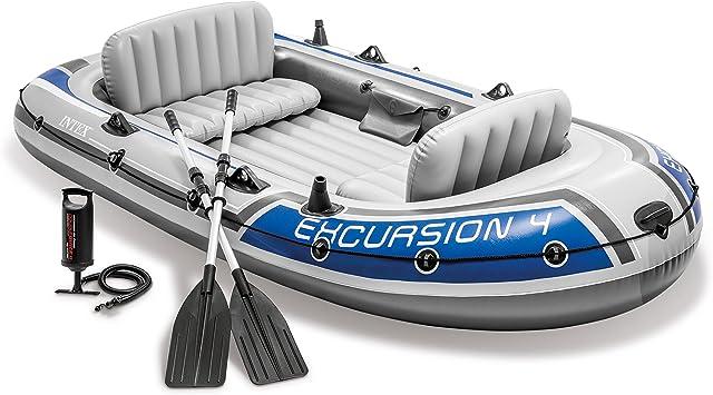 Amazon.com: Intex Excursion 4, 4-person Inflatable Boat Set ...