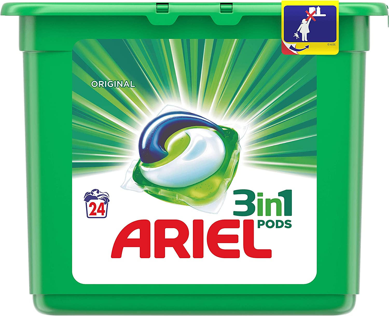 Ariel 3 In1 Pods Detergente en Cápsulas para Lavadora - 24 ...