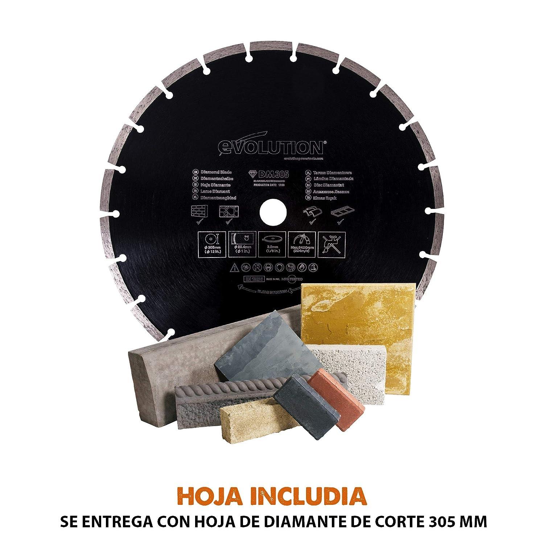 230 V Evolution Power Tools Cortadora de disco el/éctrica 305 mm