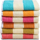 HSR Collection 6 Piece Cotton Hand Towel - 120 GSM, Multicolor