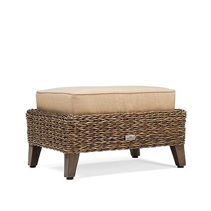 Blue Oak Outdoor Bahamas Patio Furniture Ottoman with Sunbrella Canvas  Heather Beige Cushions - Amazon.com : Blue Oak Outdoor Bahamas Patio Furniture Ottoman With