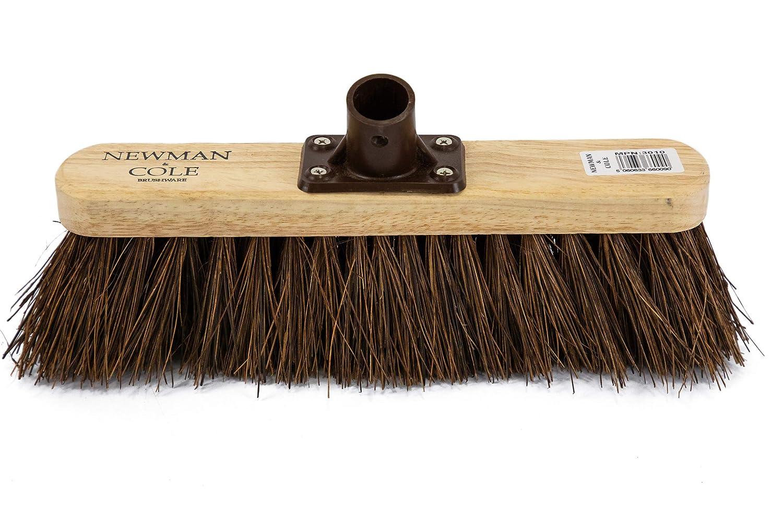 Soft Stiff Sweeping Yard Brush Outdoor Garden Cleaning Broom Wooden Handle