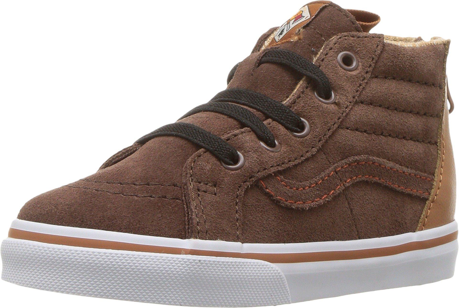 Vans Infant/Toddler Shoes SK8-Hi Top Zip Suede Brown (MTE) Potting Soil Fashion Sneakers (7 Toddler M)