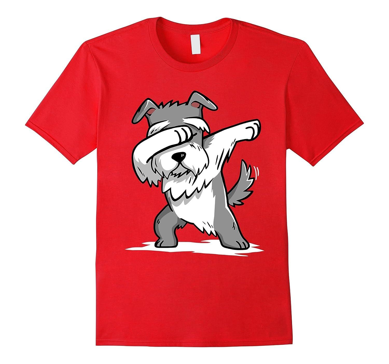 Schnauzer Cute Dabbing T-Shirt Funny Dab Dance Gift Shirt-FL