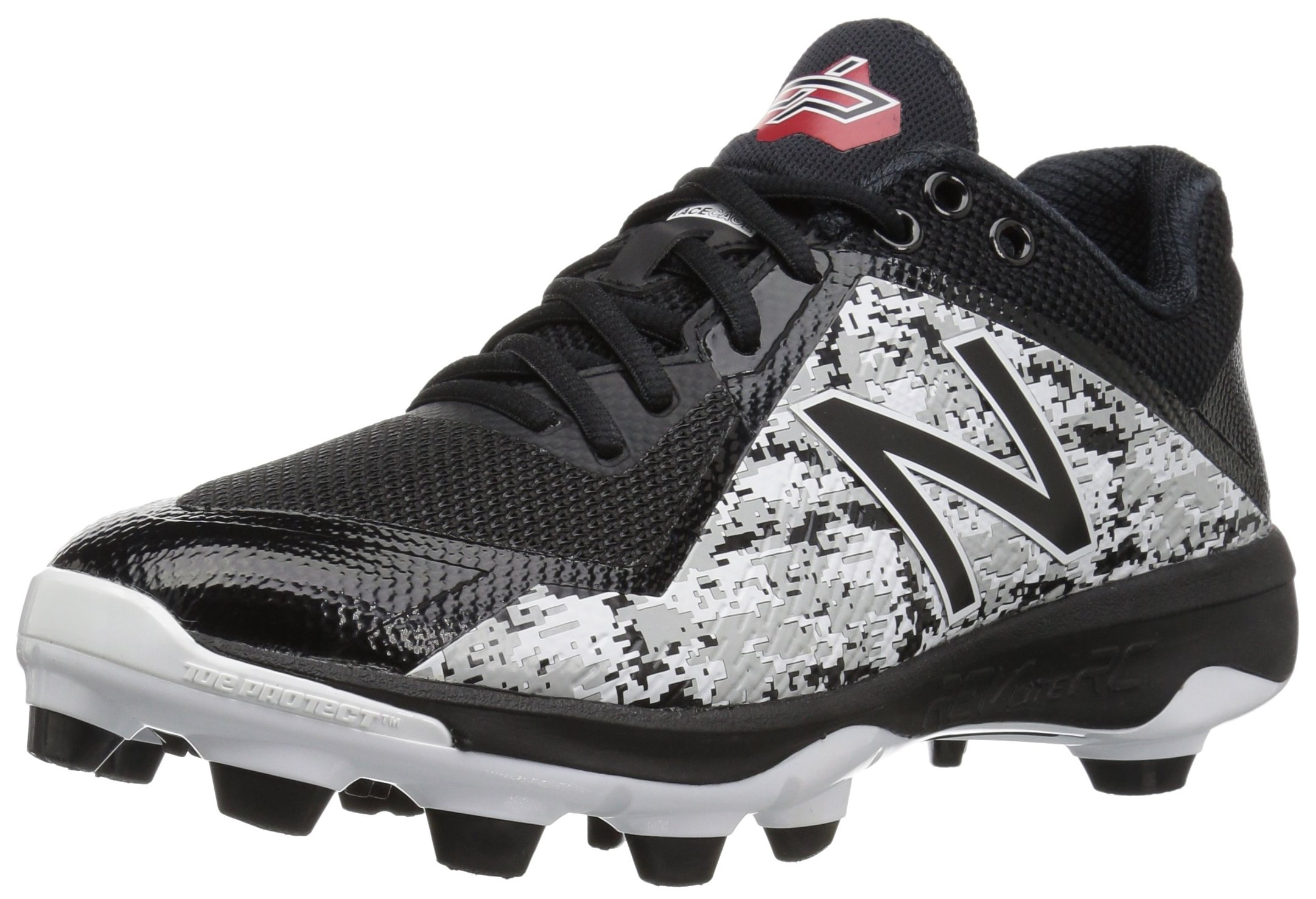 New Balance Men's PL4040v4 Molded Baseball Shoe, Black Camo by New Balance