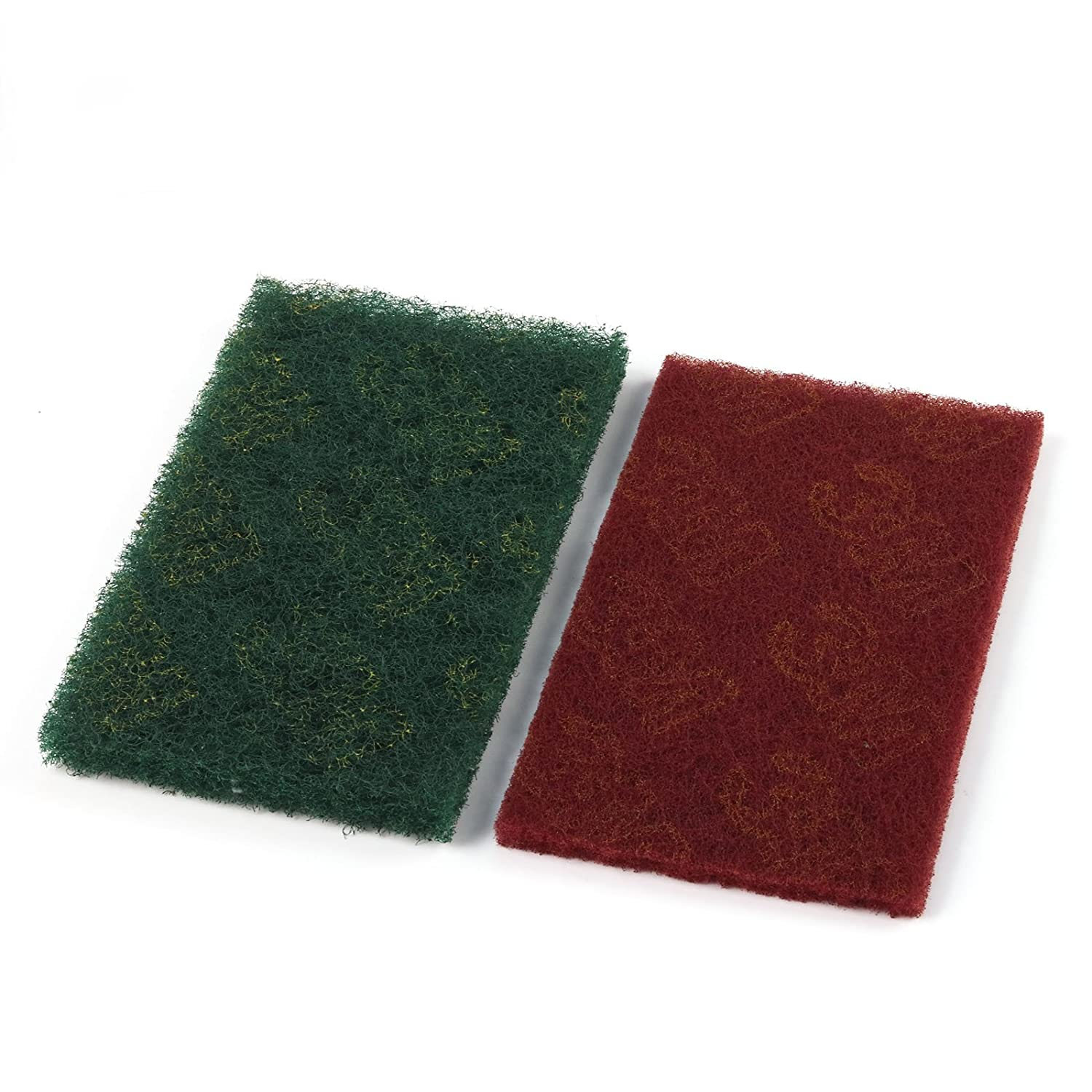Sponge Scouring Pads Scrub Polishing Cloth For Sink Dish Home Kitchen Cleaning Red 20Pcs