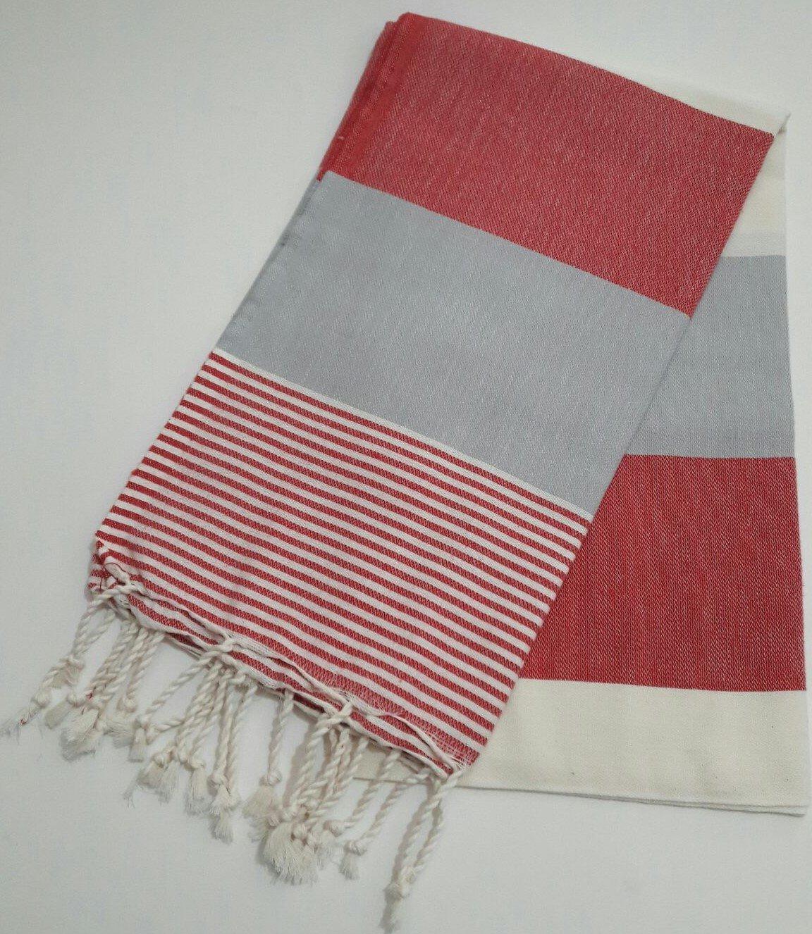 Paramus Turkish Cotton Bath Beach Spa Hammam Yoga Gym Yacht Hamam Towel Wrap Pareo Fouta Throw Peshtemal Pestemal Sheet Blanket (red) by Paramus (Image #1)