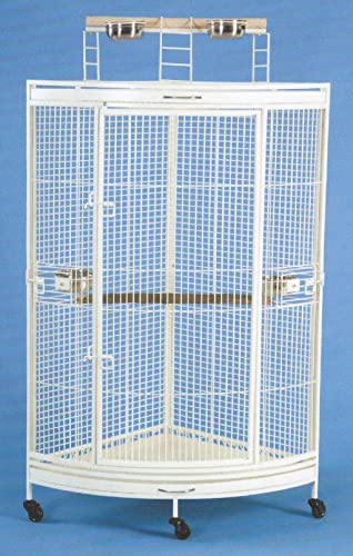 New Corner Open Playtop Parrot Bird Cage – 36 X 25 X 61 H – 4 Colors Available