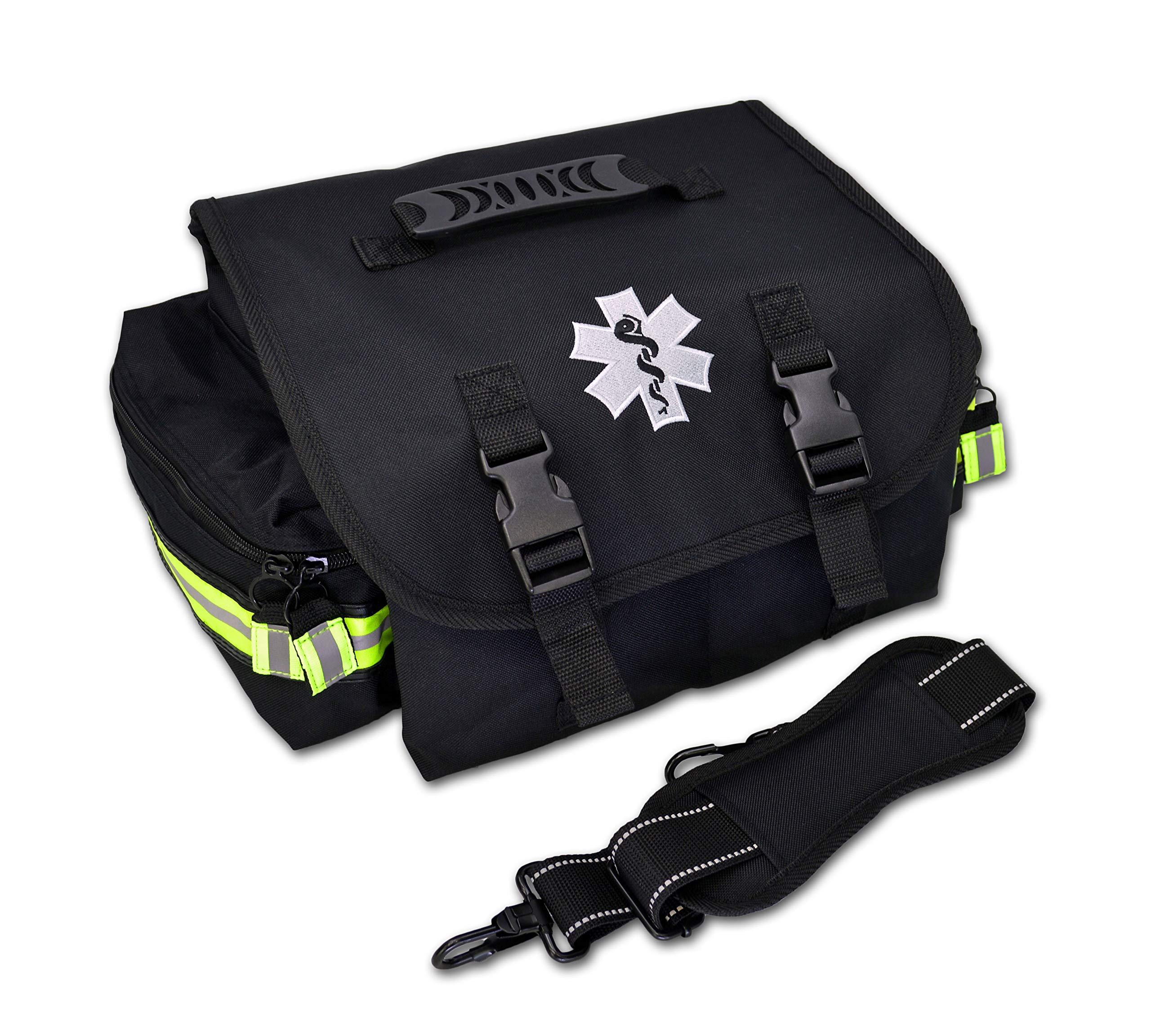 Lightning X Small EMT Medic First Responder Trauma EMS Jump Bag w/Dividers (Stealth Black)