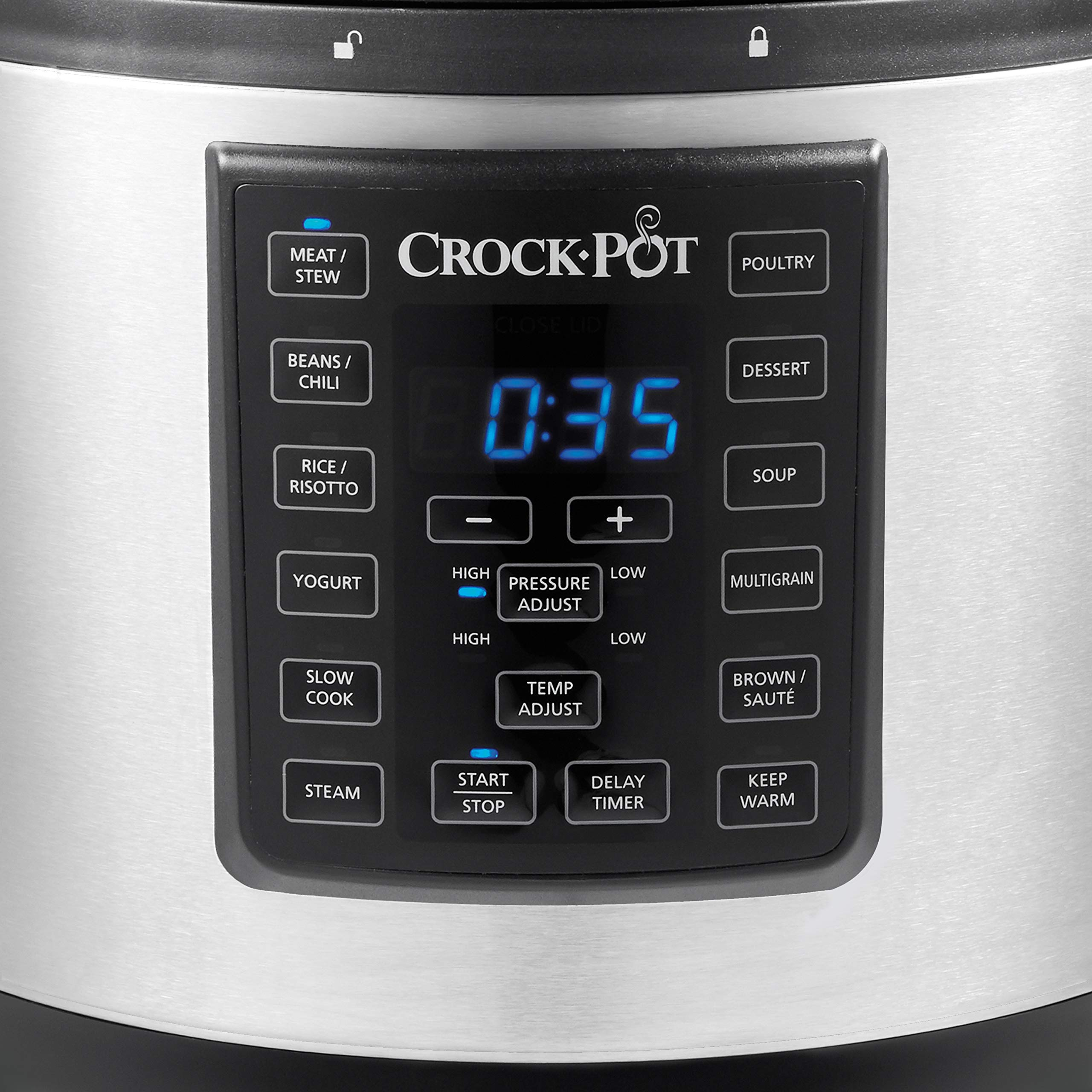 Crock-Pot 6 Qt 8-in-1 Multi-Use Express Crock Programmable Slow Cooker, Pressure Cooker, Sauté, and Steamer, Stainless Steel (SCCPPC600-V1) by Crock-Pot (Image #4)
