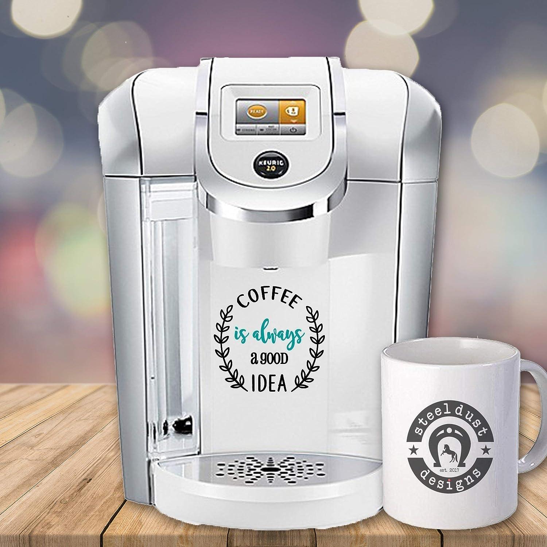 Amazon com decal sticker for your kitchen coffee maker coffee mug decal yeti decal keurig coffee decal handmade