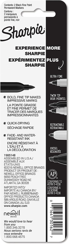 2 Ct Sharpie Permanent Markers Fine Point Black
