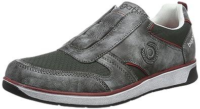 Mens K14656n6 Low-Top Sneakers, Grey Bugatti