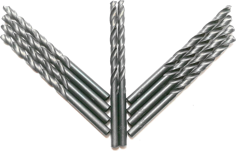 5//32 Copper 10PCS 5//32 HSS Twist Drill Bits,Black Oxide,Ideal for Drilling on mild Steel Zinc Alloy etc. Aluminum