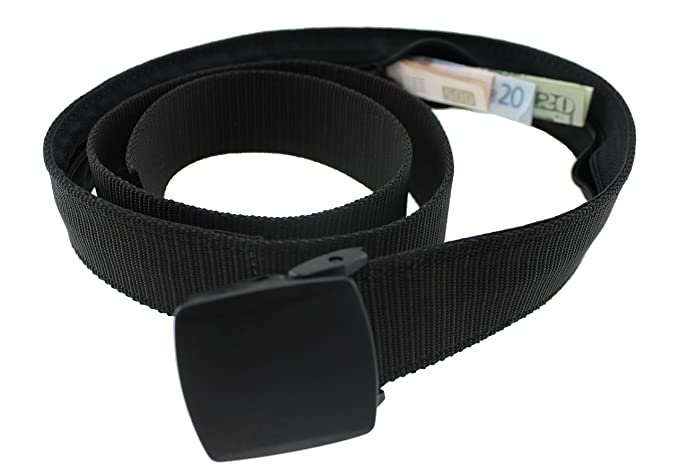 3edc4ed185c Amazon.com  Bulldog Money Belt Made in the USA by Thomas Bates (Black)   Clothing
