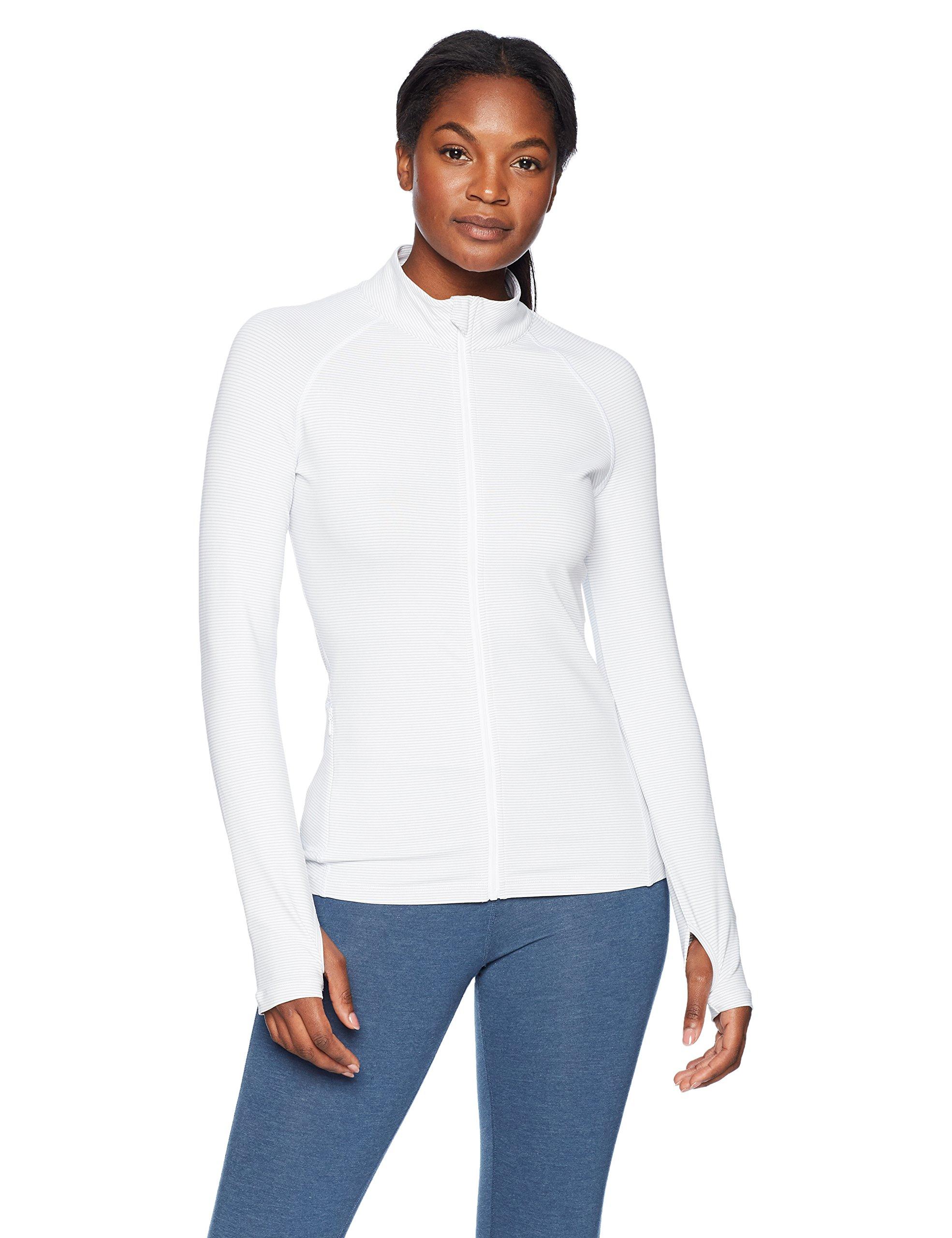 Lorna Jane Womens Unwind Zip Through Jacket, Galaxy/White Stripe, X-Small