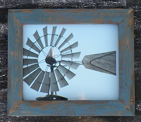 blue barn wood. Rustic Blue Country Wood Picture Frame, Distressed Handmade Barn Framed Iowa