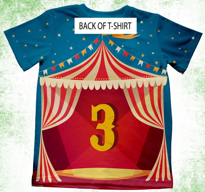 6e3c1cc46 Amazon.com: Personalized Circus T-Shirt, Circus Theme Birthday Shirt,  Birthday Party Kids T-shirts, Theme Birthday Shirt, Circus Elephant  Birthday: Handmade