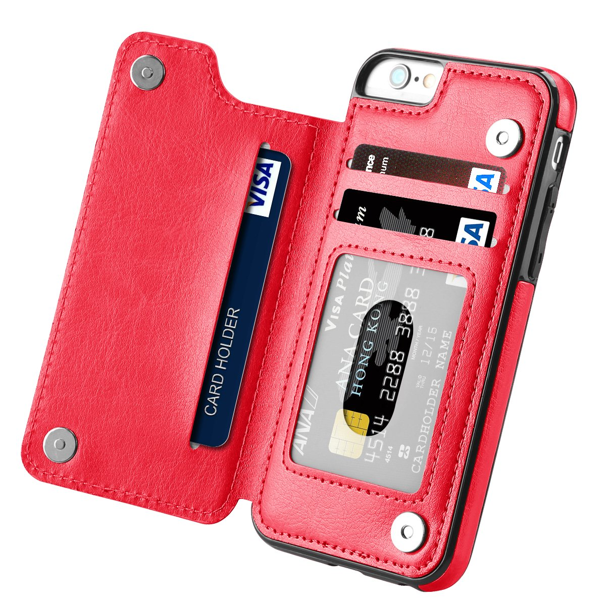 Magnetic Leather Wallet Case Card Slot Shockproof Flip Cover for ...