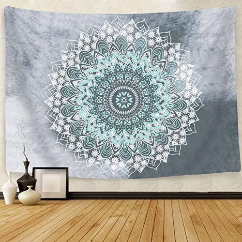 Cootime Mandala Tapestry, Hippie Bohemian Flower Psychedelic Indian Dorm Decor for Living Room Bedroom 70.9×90.6 Inches, Green
