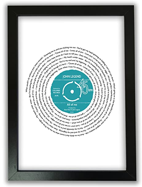 Favourite Song Personalised || ANY SONG WORDS or LYRICS || Vinyl ...