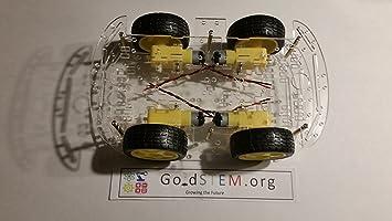 Amazon.com: goldstem Arduino 4 WD 4 Wheel Drive Smart Car ...