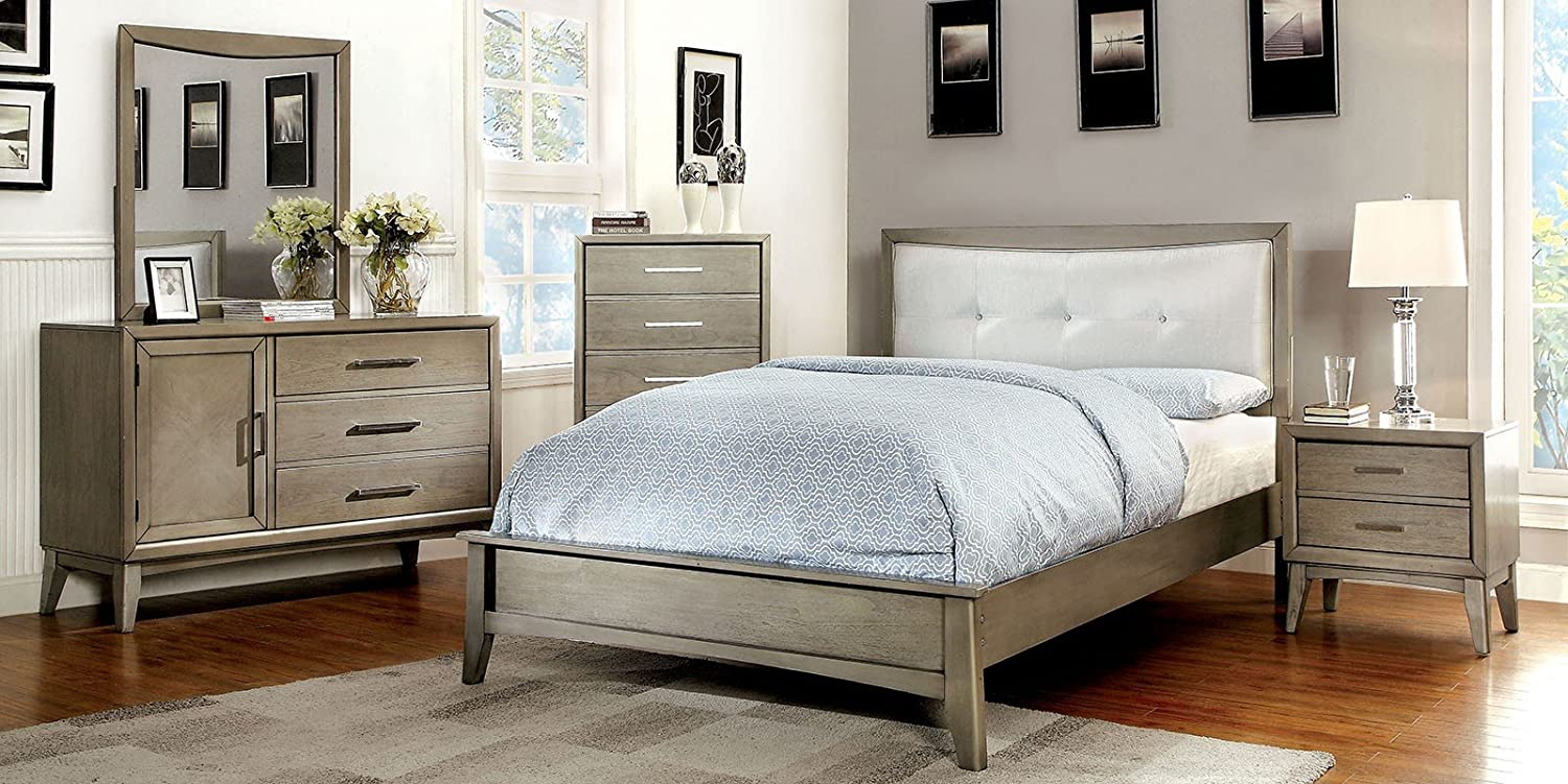 Amazon.com: New Bedroom Furniture Modern Platform Bed Contemporary ...