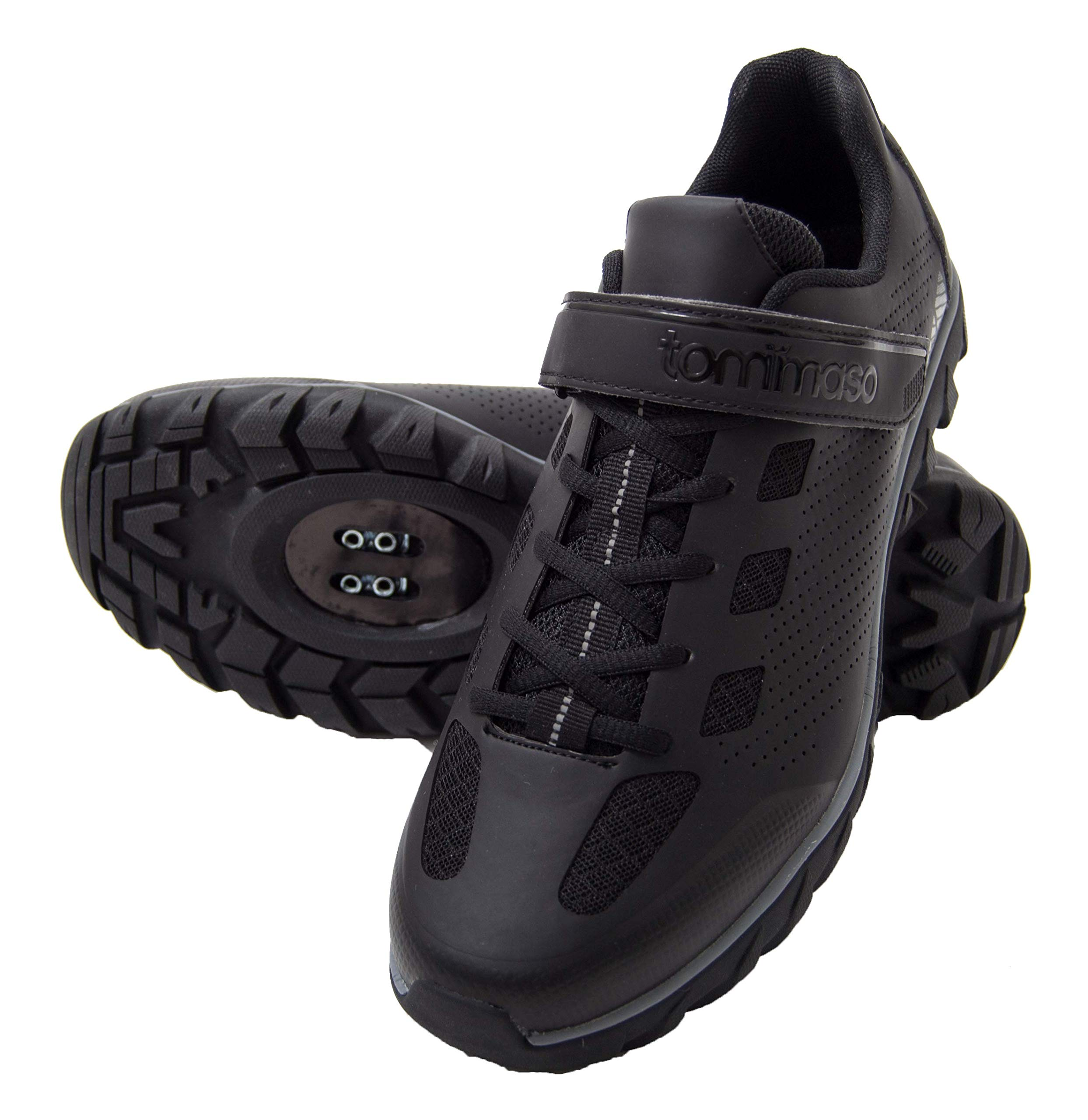 tommaso Roma - Shoe of The Month - Men's Urban Commuter, Spinning, Multi-Use Cycling Shoes - 43 Black/Grey by tommaso