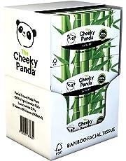 La Cheeky Panda 100% bambú tejido facial caja de soporte de, 12unidades, total 960tejidos
