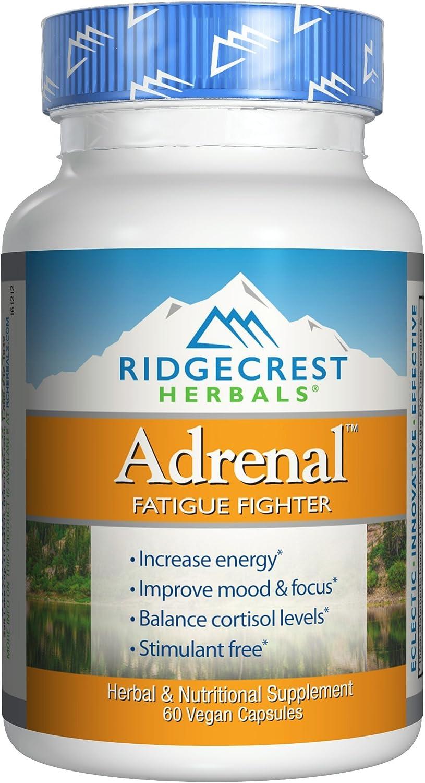 RidgeCrest Herbals Adrenal Fatigue Fighter, Adaptogen Stress Support, 60 Vegetarian Capsules: Health & Personal Care