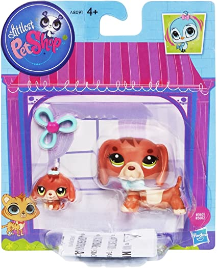 Littlest Pet Shop Figures Dachshund and Baby Dachshund by Littlest ...