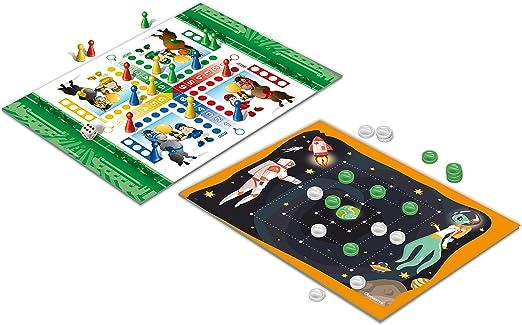 Clementoni – Juegos de Societa Palabras Cruzadas y el Juego de Las pulgas Multicolor: Amazon.es: Juguetes y juegos