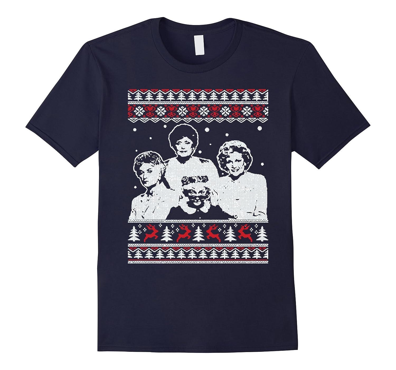 Golden Girls Queens Ugly Christmas Sweater T-Shirt - Goatstee