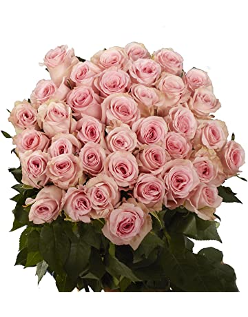 61017ed12f GlobalRose 50 Pink Roses - Fresh Flower Delivery - Perfect For Mother´s Day