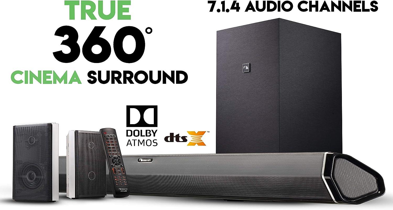 "Nakamichi Shockwafe Pro 7.1.4 Channel 600W Dolby Atmos Soundbar With 8"" Wireless Subwoofer"