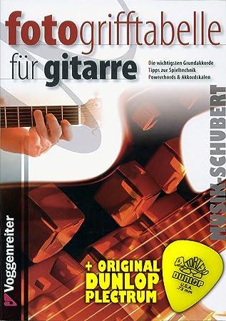 FOTO-Grifftabelle für Gitarre inkl. Plektrum - die: Amazon.de ...