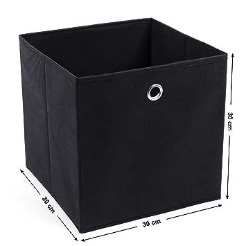 SONGMICS Juego de 2 Cajas de almacenaje Cubos de Tela Plegable 30 x 30 x 30 cm Nergo RFB02H: Amazon.es: Hogar