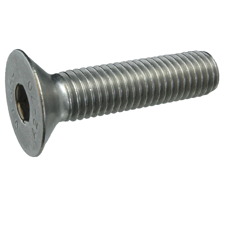 Senkschrauben mit Innensechskant und Vollgewinde VA // V2A 5 Senkkopfschrauben Edelstahl M12 x 50 mm Werkstoff A2 ISO 10642 // DIN 7991